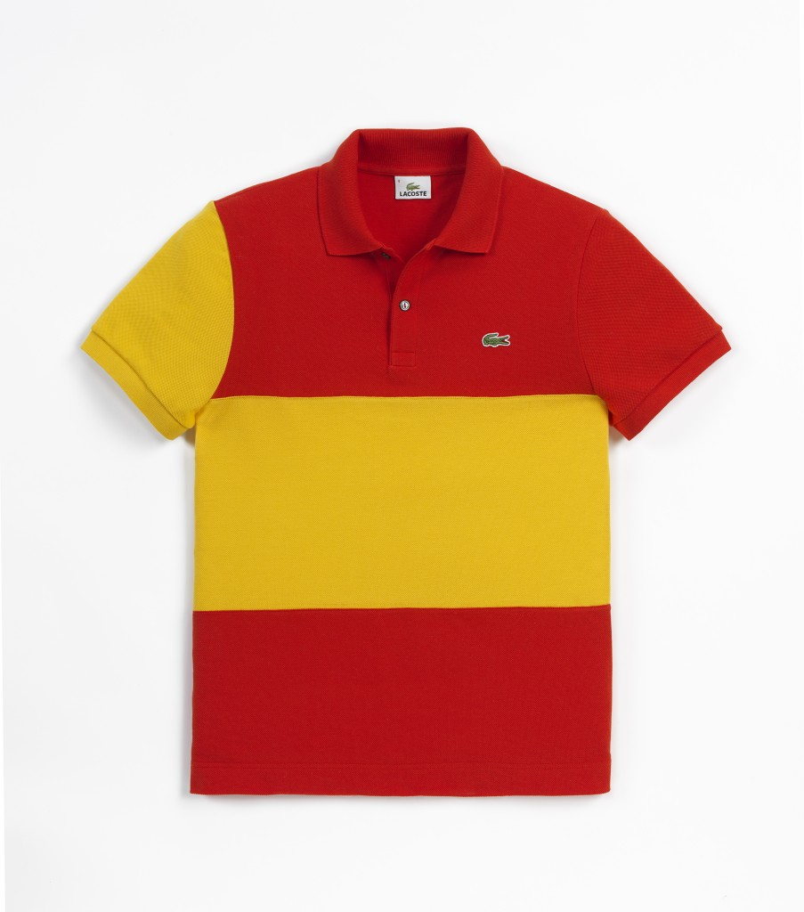 Lacoste flag polo shirts sybarites male models picture for Spain polo shirt 2014
